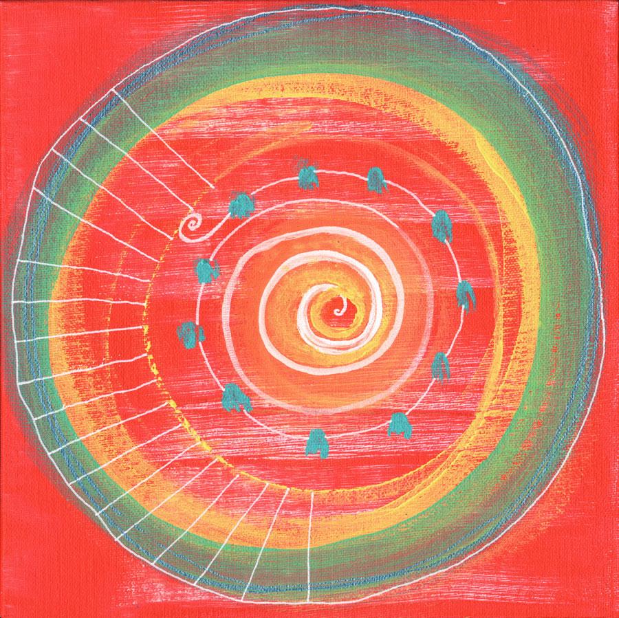Abstract red circle, 2020